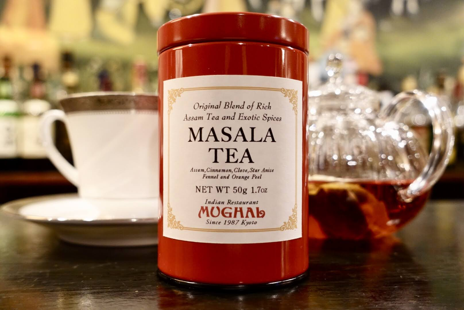 ムガール オリジナルブレンド マサラティー・赤缶